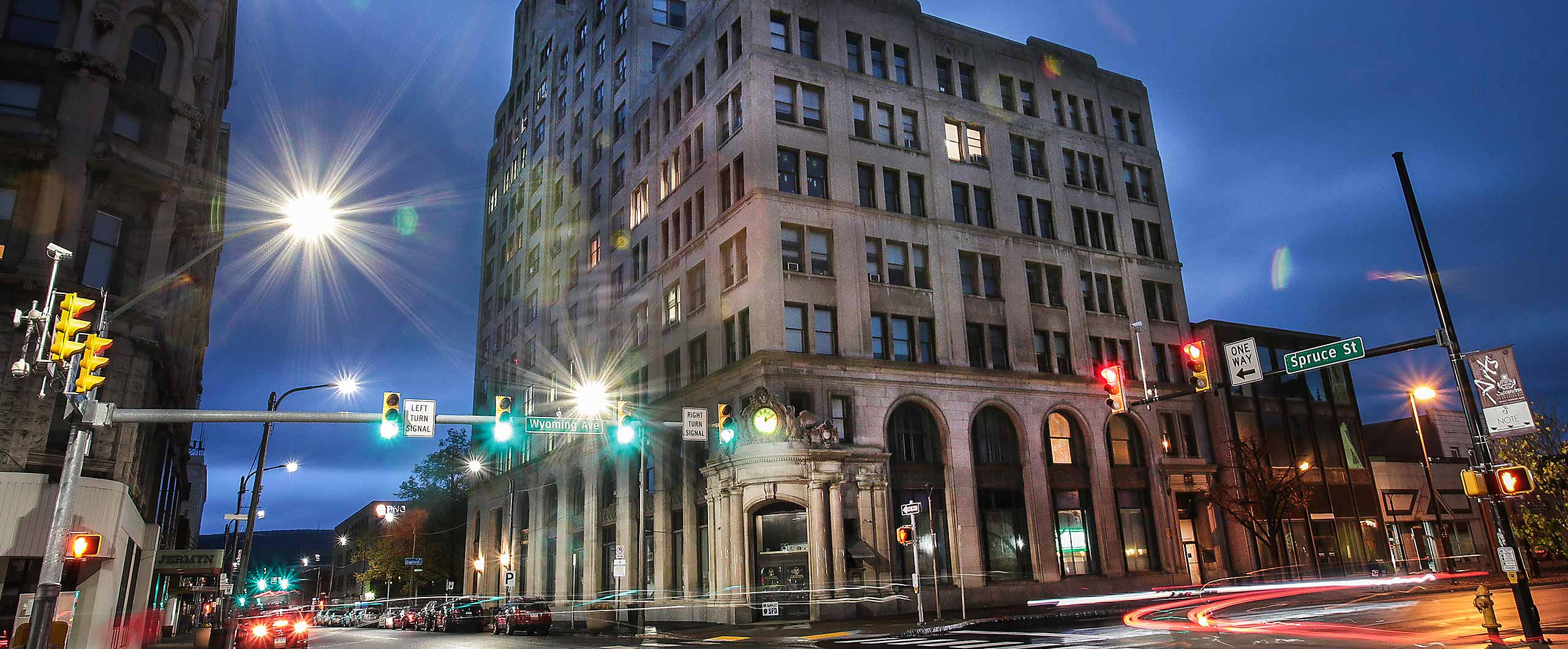 Professional offices, government offices, medical offices, dental offices, and law offices in the Bank Towers at 321 Spruce Street, Scranton, PA
